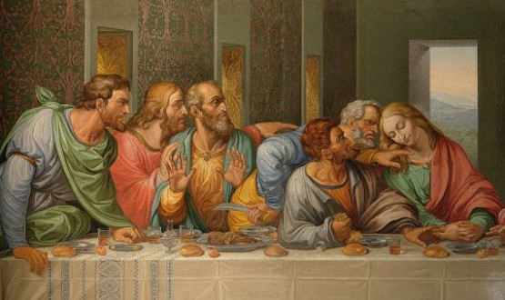 Minoritenkirche -  The Last Supper by Giacomo Raffaelli
