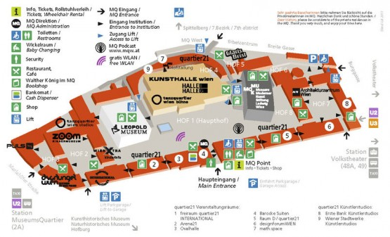 Museumsquartier - Area Map