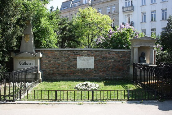 Wahringer Schubertpark - Beethoven & Schubert Tombstones