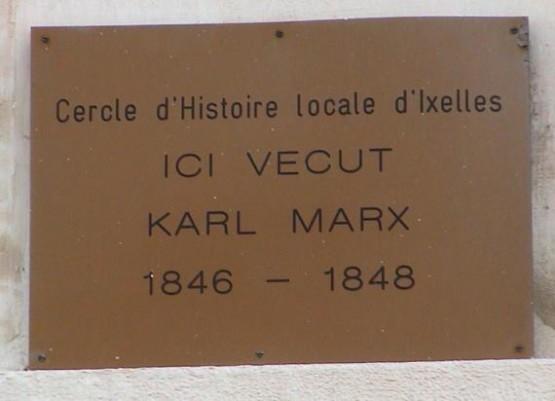 Maison De Karl Marx - Plaque