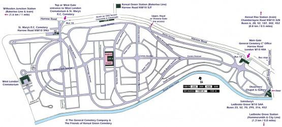 Kensal Green Map