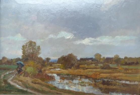 Hermann Stockmann Dachau Dachauer Maler Moos Landschaft