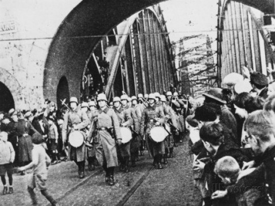 Hohenzollernbrucke - Remilitarization of the Rhineland 1936