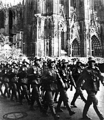 Kolner Dom - Remilitarization of the Rhineland 1936