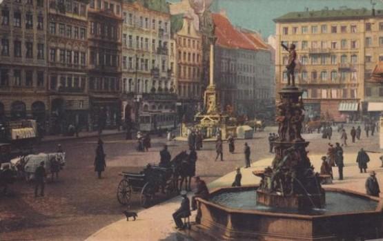 Marienplatz - Fischbrunnen 1908
