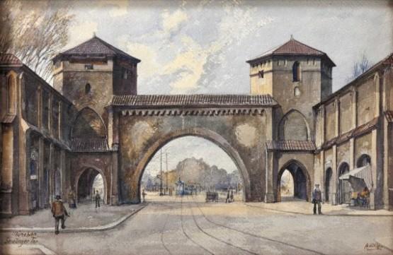 Munchen Sendlinger Tor by Adolf Hitler 1913