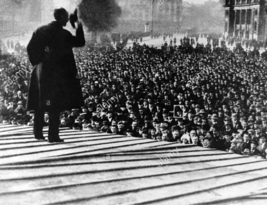Lenbachplatz Hitler Speach 1919