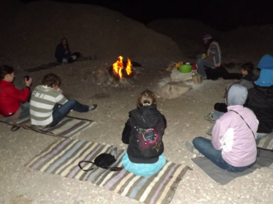 camel ranch - around the camp fire