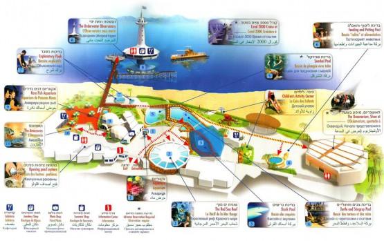 Eilat Underwater Observatory Map