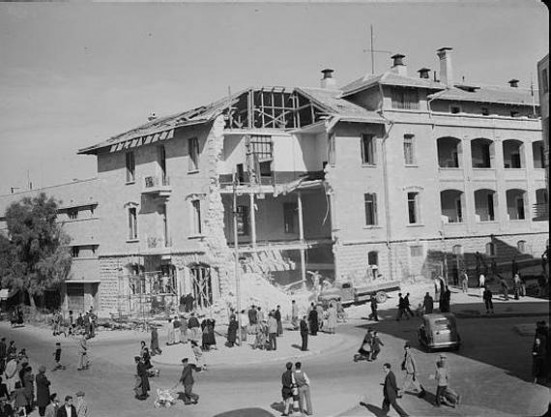 Russian Compound - Nikolai Courtyard 1945 Damage