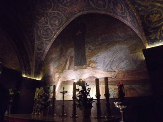 11th Station Via Dolorosa - Nails Of The Cross Altar Paintings