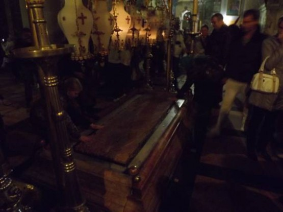 13th Station Via Dolorosa - Stone of Unction - 1