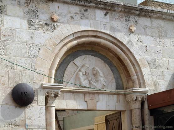 4th Station Via Dolorosa - round sign