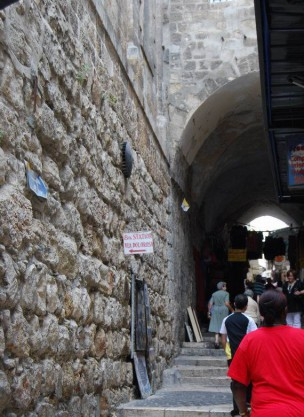 8th Station Via Dolorosa - Round Sign