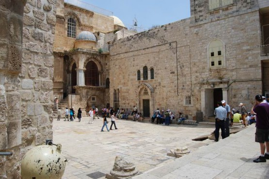 9th Station Via Dolorosa - Church Of The Holy Sepulture & Coptic Church Front Entrance