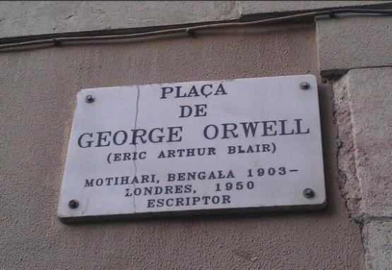 Placa George Orwell 1
